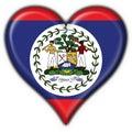 Belize button flag heart shape Stock Photos