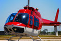 Bell 206 helicopter taking off Royalty Free Stock Photo