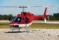 Bell 206 light helicopter Royalty Free Stock Photography