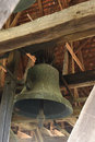 Bell in Axente Sever Church in Frauendorf, Romania Royalty Free Stock Photo