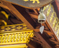 Bell in buddist temple closeup a Stock Image