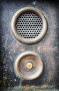Bell buttons old button and speaker Royalty Free Stock Images