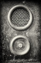 Bell buttons old button and speaker Stock Photography