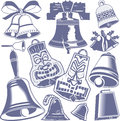 Bell collection a clip art of various artwork Royalty Free Stock Images