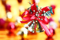 Bell hanging christmas decoration background Stock Photography