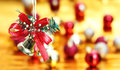 Bell hanging christmas decoration background Royalty Free Stock Photo