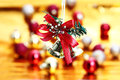 Bell hanging christmas decoration background Stock Photo