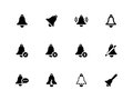 Bell icons on white background vector illustration Royalty Free Stock Photos