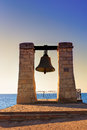Bell in khersones dramatic view on famous sevastopol ukraine Stock Image