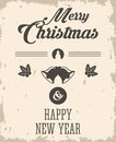 bell and leaves icon. Merry Christmas design. Vector graphic Royalty Free Stock Photo