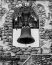 Bell at the mission san miguel outside of old on street in california Stock Photos