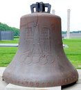 Bell from the olympics berlin germany may has been dedicated as a memorial to athletes who lost their lives during war on Stock Images
