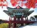 Bell pavilion at Seokguram Grotto in Gyeongju, South Korea. Royalty Free Stock Photo