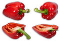 Bell pepper set Royalty Free Stock Image