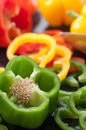 Bell Pepper Slices Stock Photo