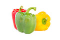 Bell pepper three colors Royalty Free Stock Photo
