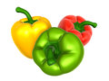 Bell pepper with variety foods and dishes series Royalty Free Stock Image