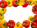 Bell peppers border Royalty Free Stock Image