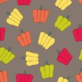 Bell peppers. Stylized vector seamless pattern