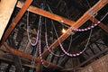 Bell ringing ropes inside st marys church tower pembridge herefordshire england uk western europe Stock Photos