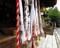 Bell ropes, Himure Hachiman Shrine, Omi-Hachiman, Japan