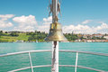 Bell on the ship against sky Royalty Free Stock Image