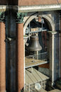 Bell in the span of the belfry of st isaac s cathedral in st petersburg russia Stock Images