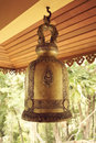 Bell in a temple thailand gold buddhist Stock Photo