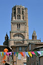 Bell tower of Albi in France Stock Images