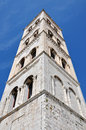 Bell tower of the Anastasia cathedral in Zadar, Croatia Royalty Free Stock Photo