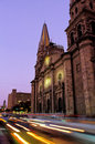 Bell-tower of Cathedral- Guadalajara, Mexico Royalty Free Stock Images