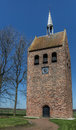 Bell tower of the church of garmerwolde in netherlands Stock Photo
