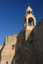 Bell tower of the Church of the Nativity in Bethle Royalty Free Stock Photo