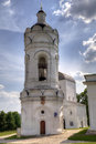 Bell tower of Church of St. George in Kolomenskoye Stock Photo