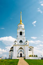 The Bell Tower Of The Dormition Cathedral, Vladimir. Russia. Royalty Free Stock Photo