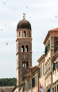 Bell tower in Dubrovnik Stock Photo