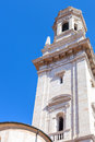 Bell tower of duomo cathedral in Verona city Royalty Free Stock Photo