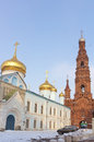 Bell tower of the Epiphany church in Kazan, Russia Royalty Free Stock Images