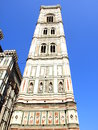 Bell tower of giotto in florence italy the basilica santa maria del fiore three buildings are part th unesco world heritage site Royalty Free Stock Photo