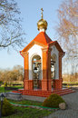 Bell tower of Holy Nativity of Virgin Orthodox convent, Brest, Belarus Royalty Free Stock Photo
