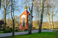 Bell tower of Holy Nativity of Virgin Orthodox convent in Brest, Royalty Free Stock Photo