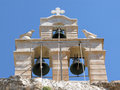 Bell tower of Kapsa monastery on Crete Royalty Free Stock Photo