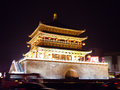 Bell Tower lighted up in Xian, China Royalty Free Stock Photo