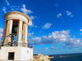 A bell tower memorial in valletta malta the siege of world war ii Stock Images