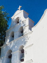Bell tower of mission san diego de alcalá the in california Stock Photo