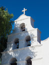 Bell tower of mission san diego de alcalá the rises above in california Royalty Free Stock Photo