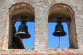 Bell tower at mission san juan capistrano bells the in was erected a year after the the great stone church was Royalty Free Stock Photography