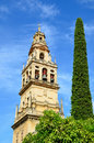 Bell tower of Mosque-Cathedral in Cordoba Royalty Free Stock Photography