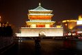 Bell tower night scenes xian xian built in ming dynasty xian china Stock Photo