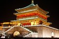 Bell tower night scenes xian xian built in ming dynasty xian china Stock Images